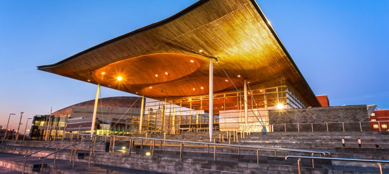 Senedd at dusk / nightCardiff BayCardiffSouthTowns and Villages